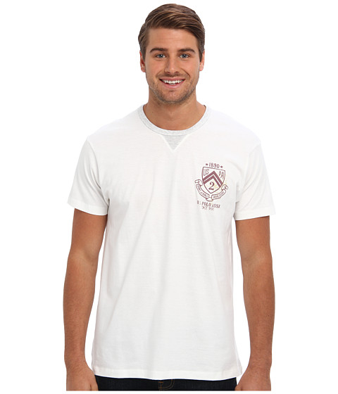 U.S. POLO ASSN. - Crew Neck Short Sleeve T-Shirt (White Winter) Men's Short Sleeve Pullover
