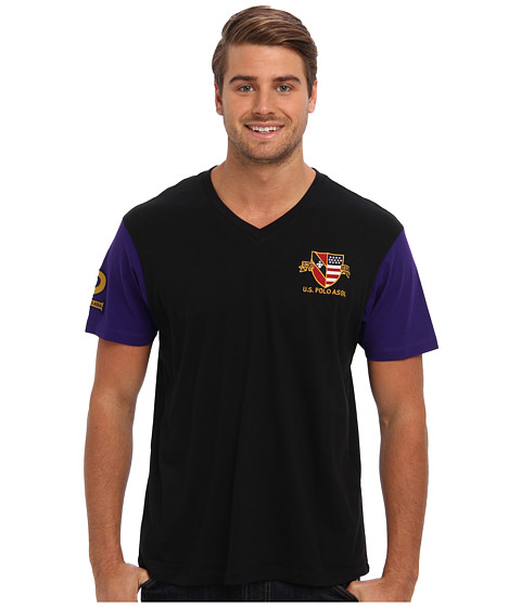 U.S. POLO ASSN. - U.S. Polo Assn. Crest T-Shirt (Black) Men