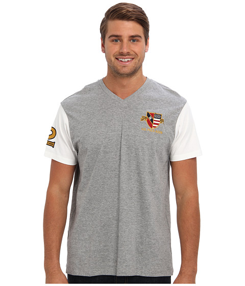 U.S. POLO ASSN. - U.S. Polo Assn. Crest T-Shirt (Heather Gray) Men's Short Sleeve Pullover