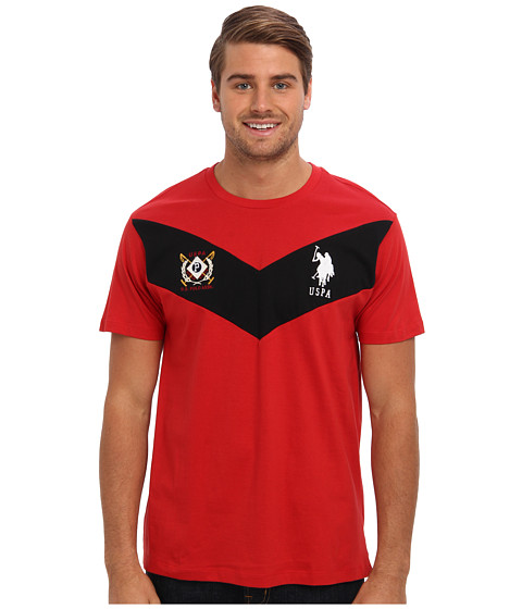 U.S. POLO ASSN. - Short Sleeve Chevron Chest T-Shirt (Vintage Red) Men's Short Sleeve Pullover