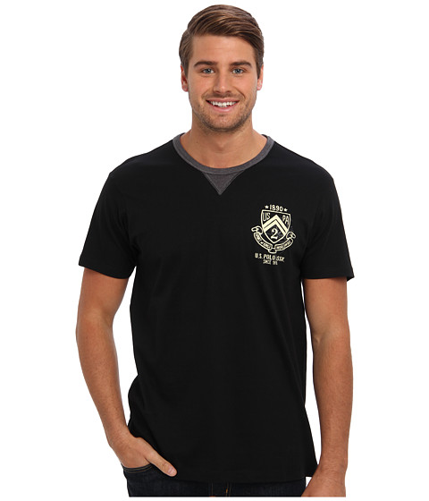 U.S. POLO ASSN. - Crew Neck Short Sleeve T-Shirt (Black) Men