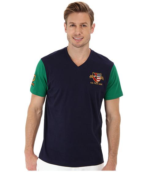 U.S. POLO ASSN. - U.S. Polo Assn. Crest T-Shirt (Classic Navy) Men