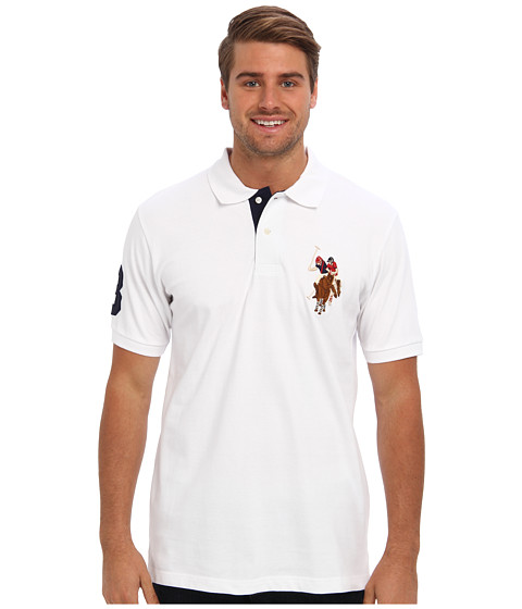 U.S. POLO ASSN. - Multicolor Horse Big Pony (White) Men's Short Sleeve Knit