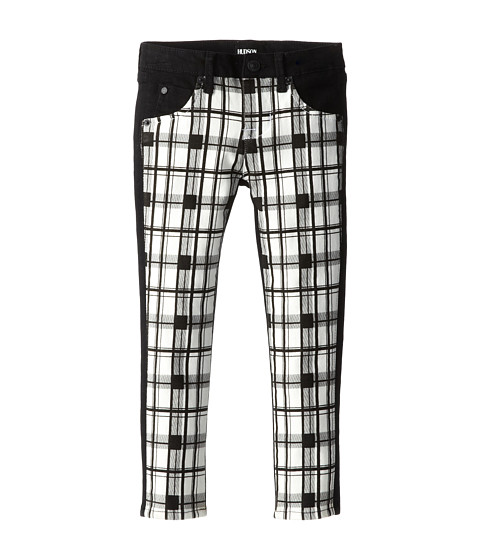 Hudson Kids - Vice Versa Front Plaid Skinny in Black Roc (Little Kids) (Black Roc) Girl