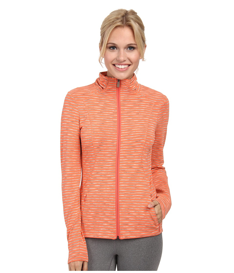 Lole - Essential Full-Zip Cardigan (Mandarino Stripe) Women