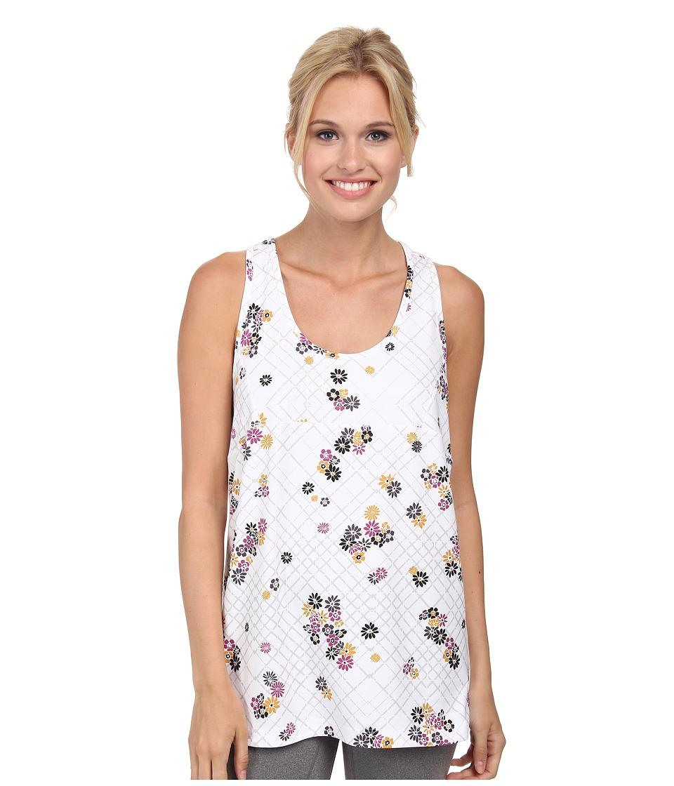 Lole - Danica Tank Top (White Flower Grid) Women's Sleeveless