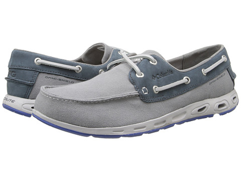 Columbia - Bonehead Vent PFG (Light Grey/Vivid Blue) Men's Shoes