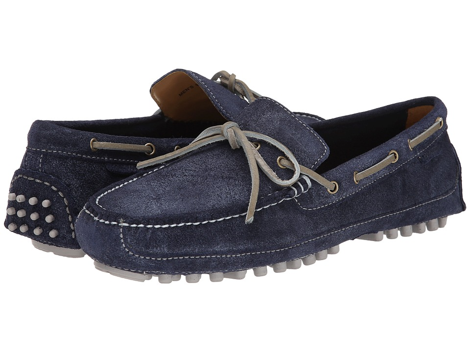 Cole Haan - Grant Canoe Camp Moc (Washed Indigo Suede) Men's Slip on Shoes