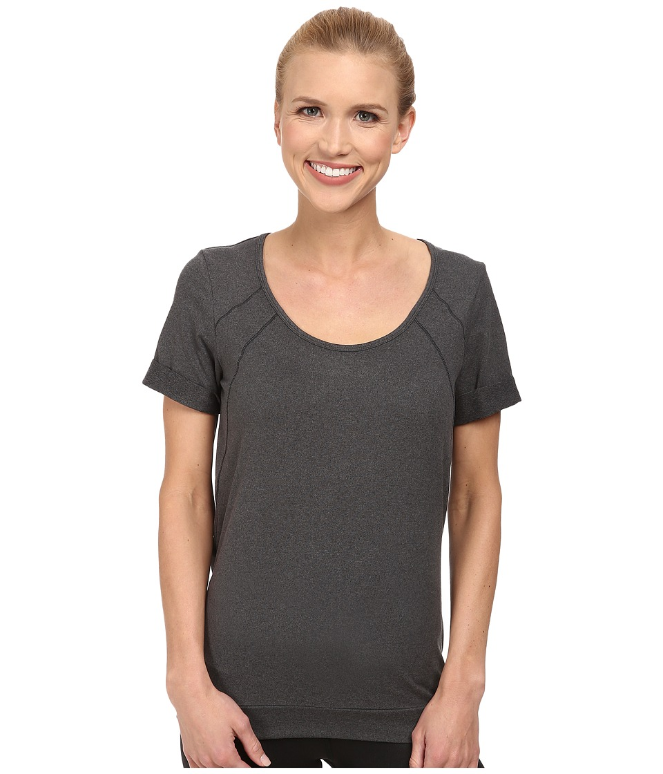 Lole - Kai Top (Black Mix) Women's Short Sleeve Pullover