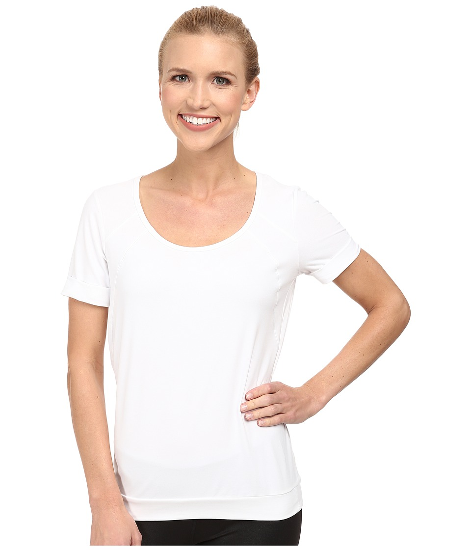 Lole - Kai Top (White) Women's Short Sleeve Pullover
