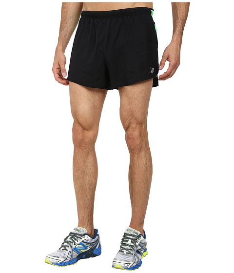 New Balance - Impact 3 Split Short (Acidic Green/Black) Men's Shorts