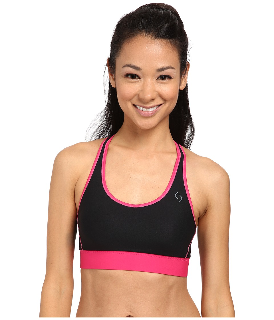 Moving Comfort - Switch It Up Racer (Black/Power Pink) Women's Bra