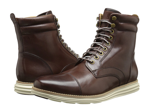 Cole Haan - Lunargrand Lace Boot (Chestnut) Men's Boots