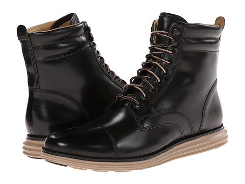 Cole Haan - Lunargrand Lace Boot (Black 2) Men's Boots