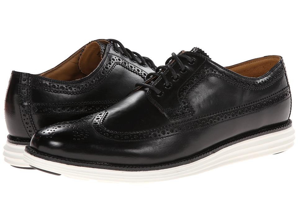Cole Haan - Lunargrand Long Wing (Black 2) Men's Lace up casual Shoes