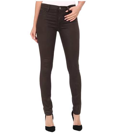 DKNY Jeans - Ave B Ultra Skinny Coated in Dark Moss (Dark Moss) Women's Jeans