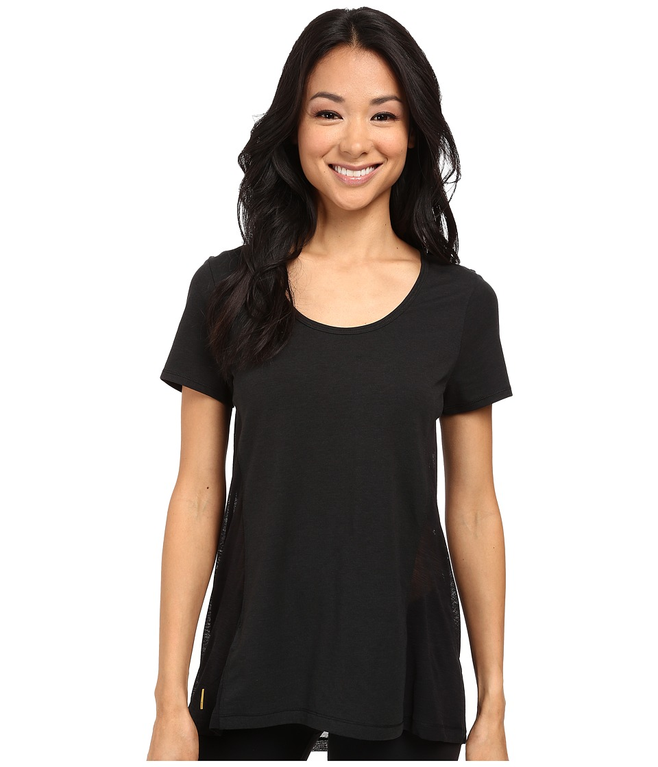 Lole - Mukha Top (Black) Women's Short Sleeve Pullover