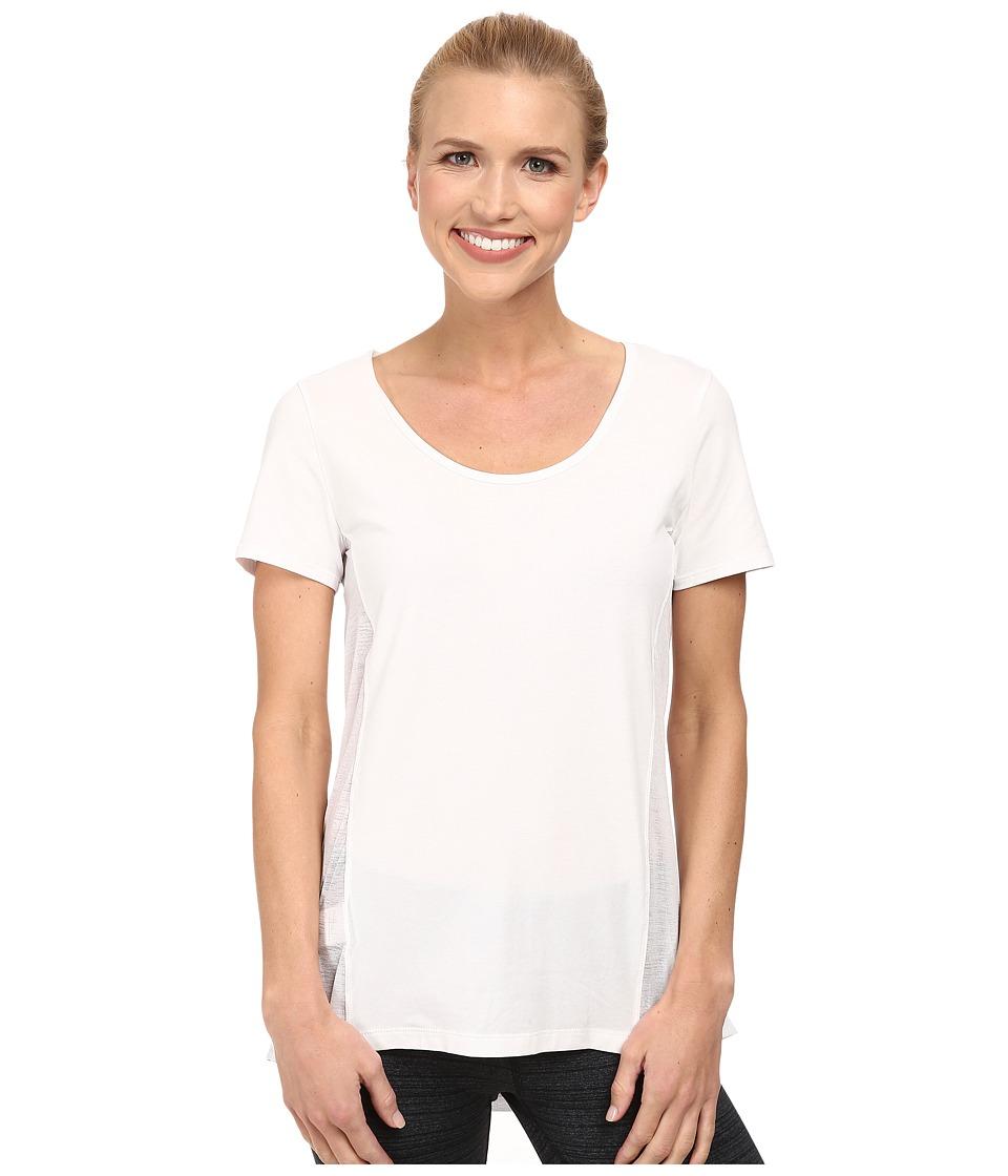 Lole - Mukha Top (White) Women's Short Sleeve Pullover