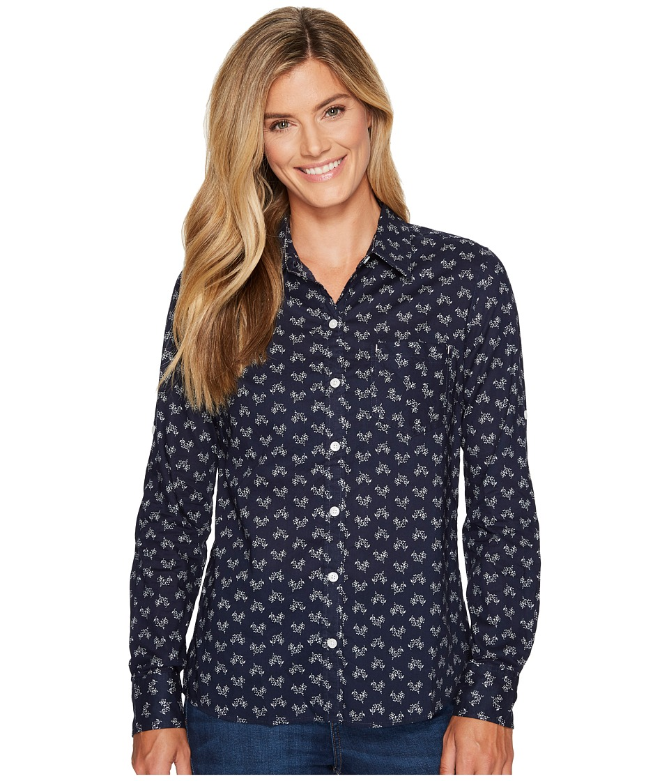 Patagonia - L/S Brookgreen Shirt (Western Ditsy/Navy Blue) Women's Long Sleeve Button Up