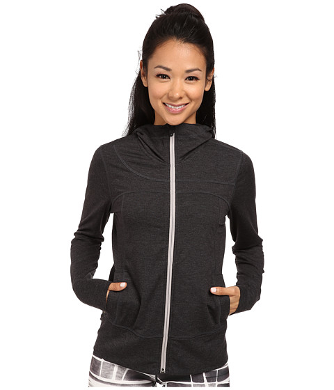 Lole - Unite Cardigan (Black Heather) Women's Sweatshirt