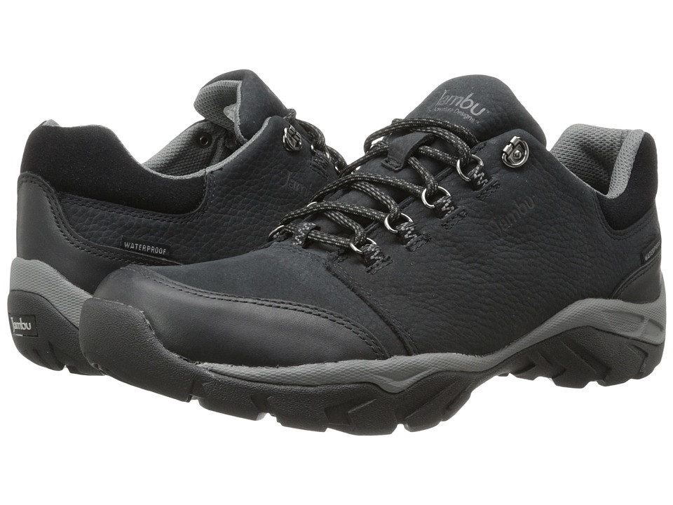 Jambu - Bedrock Hyper Grip (Black Waterproof Tumbled Nubuck) Men's Shoes