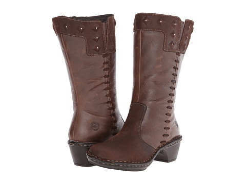 Lobo Solo - Roxie Wide Calf (Chocolate Leather) Women's Wide Shaft Boots