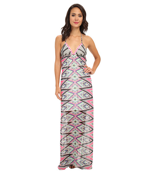 KAS New York - Bena Maxi Dress (Abstract Print) Women's Dress