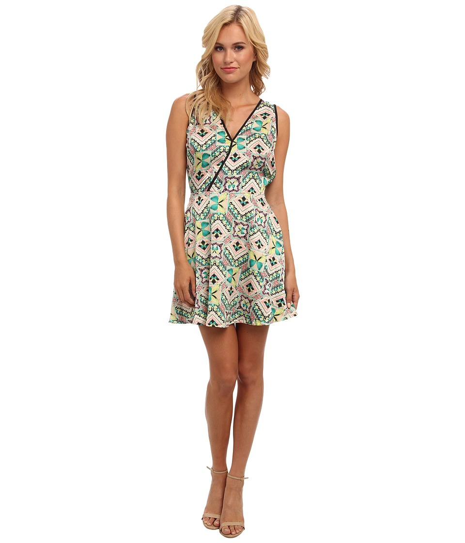 KAS New York - Shania Fit n Flare Dress (Butterfly Print) Women's Dress
