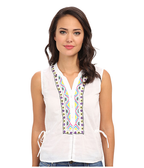 KAS New York - Mai Embroidered Top (White) Women