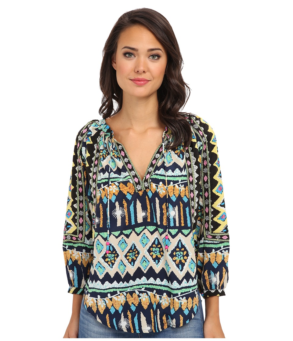 KAS New York - Isi Peasant Top (Butterfly Print) Women