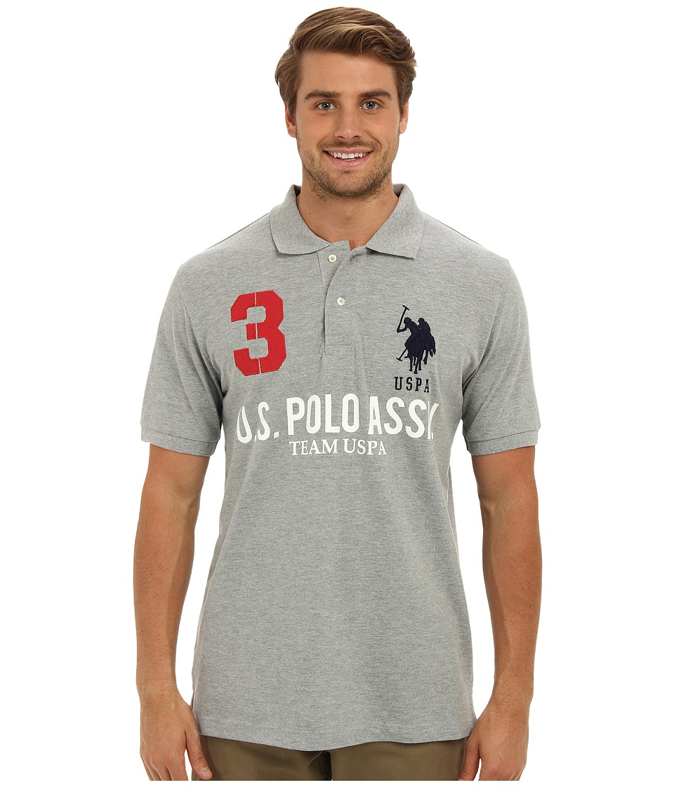 U.S. POLO ASSN. - Team U.S. Polo Assn. Polo Shirt (Heather Gray) Men