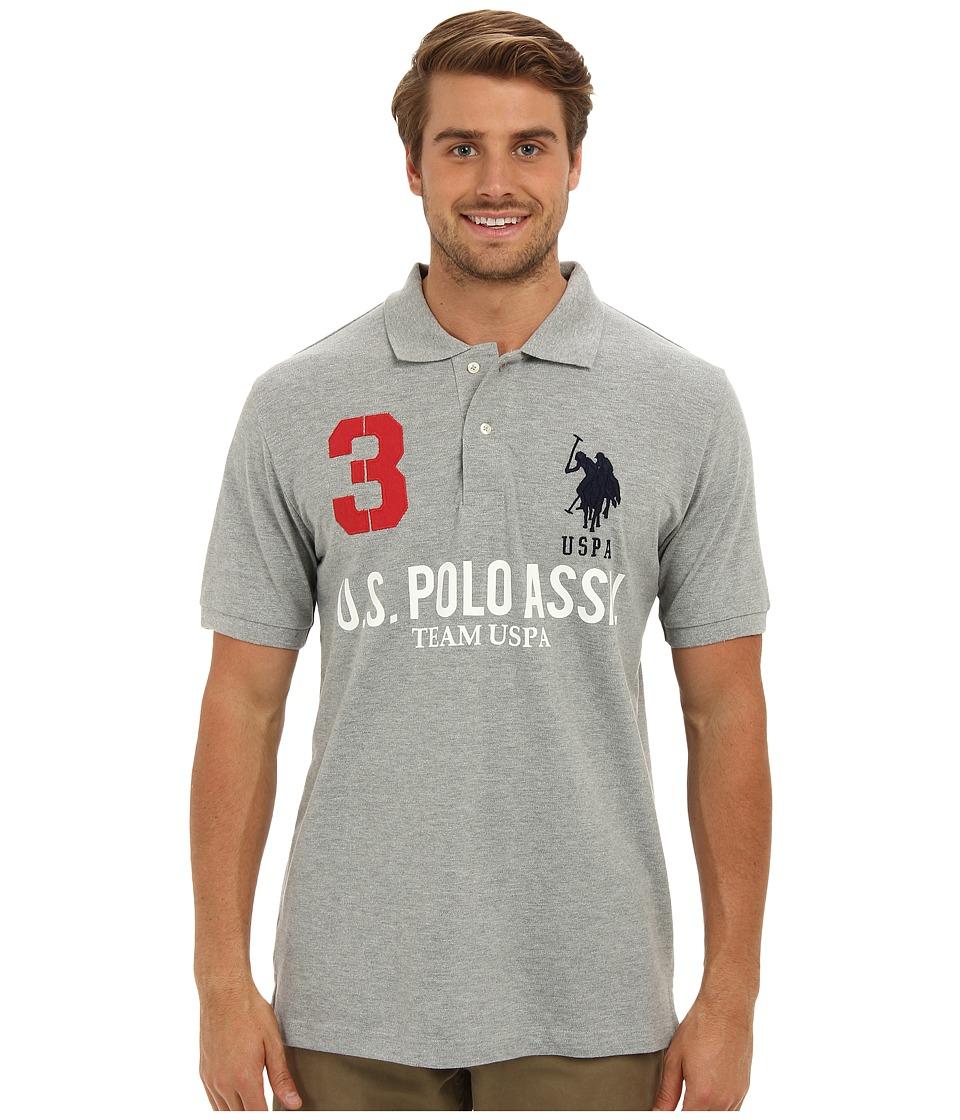 U.S. POLO ASSN. - Team U.S. Polo Assn. Polo Shirt (Heather Gray) Men's Short Sleeve Knit