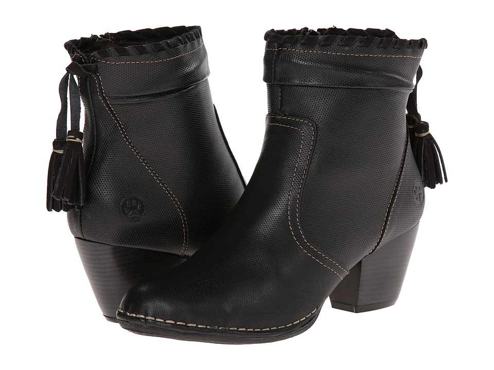 Lobo Solo - Teri (Black Leather) Women's Zip Boots