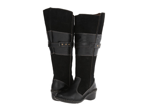Lobo Solo - Shery Wide Calf (Black Leather) Women's Zip Boots