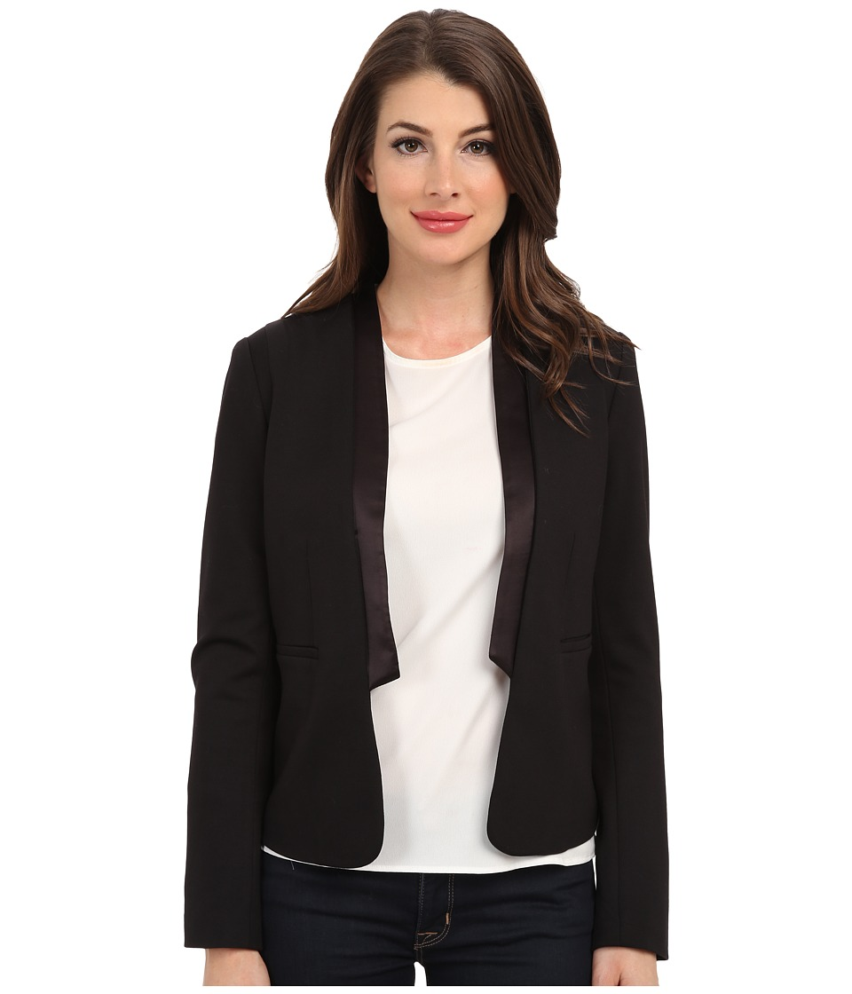 NYDJ - Satin Blocked Ponte Blazer (Black) Women's Jacket