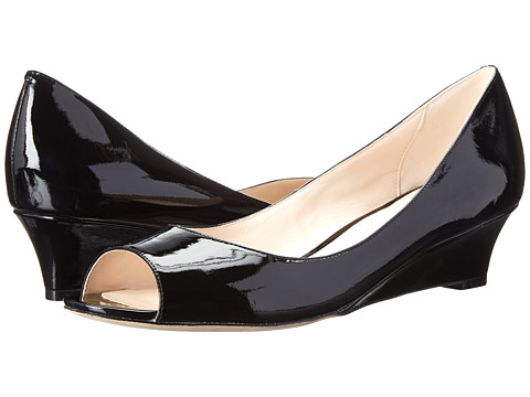 Cole Haan - Bethany Open Toe Wedge (Black Patent) Women