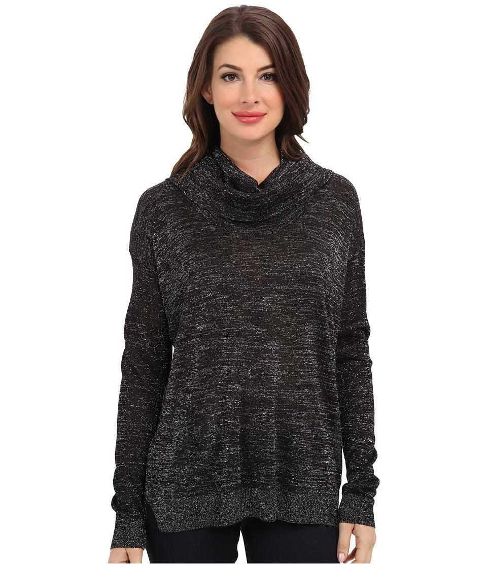 NYDJ - Metallic Cowl Neck (Black/Silver) Women's Sweater
