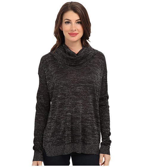 NYDJ - Metallic Cowl Neck (Black/Silver) Women's Sweater