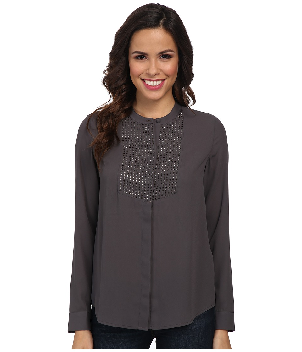 NYDJ - Embellished Blouse (Pewter) Women's Blouse
