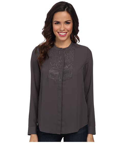 NYDJ - Embellished Blouse (Pewter) Women