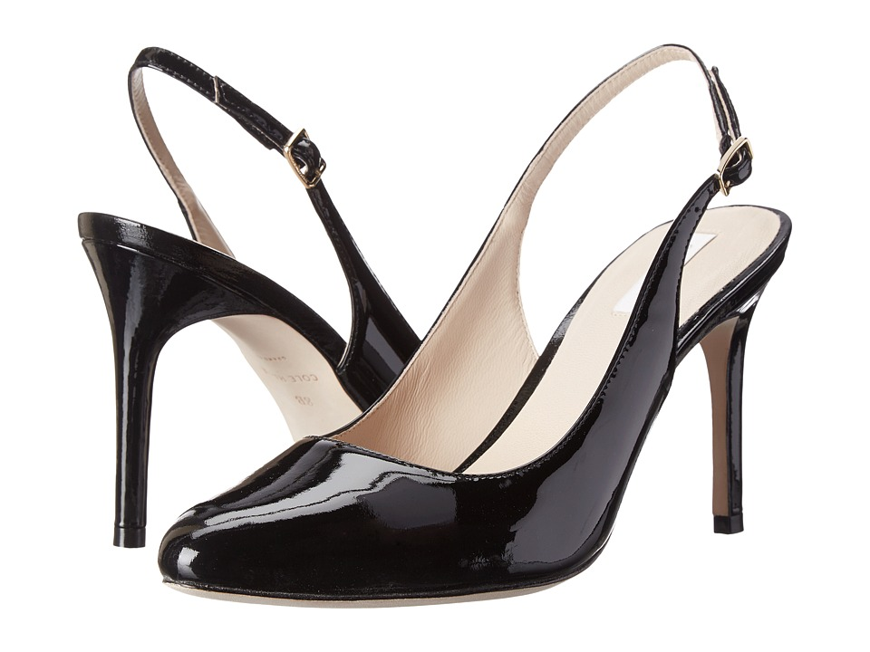 Cole Haan - Bethany Sling 85 (Black Patent) High Heels