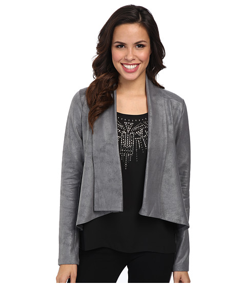 NYDJ - Coated French Terry Jacket (Pewter) Women