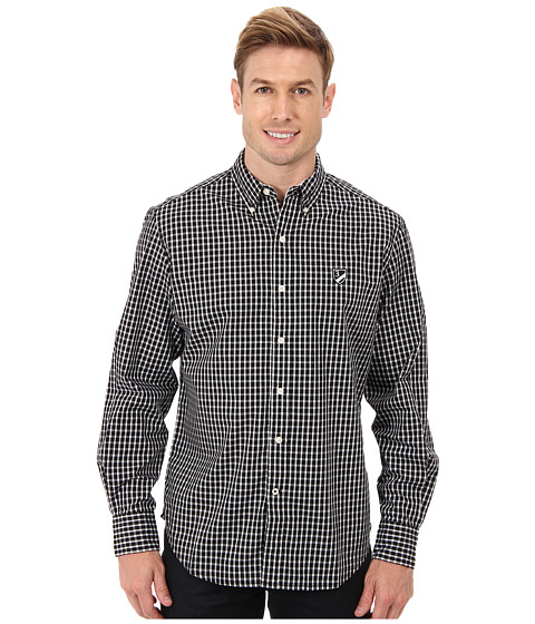 U.S. POLO ASSN. - Long Sleeve Check Sport Shirt (Black) Men's Long Sleeve Button Up
