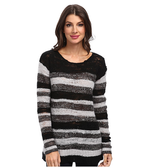 NYDJ - Drop Needle Space Dye (Black) Women's Sweater