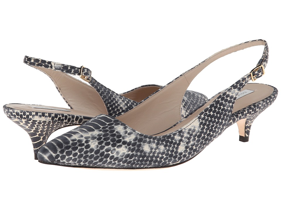 Cole Haan - Bradshaw Sling 40 (Black/White Snake Print) Women's 1-2 inch heel Shoes