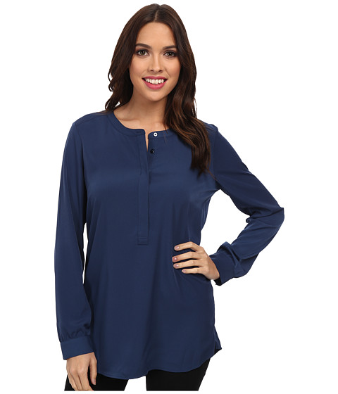 NYDJ - Woven Tunic (Heritage Navy) Women's Blouse