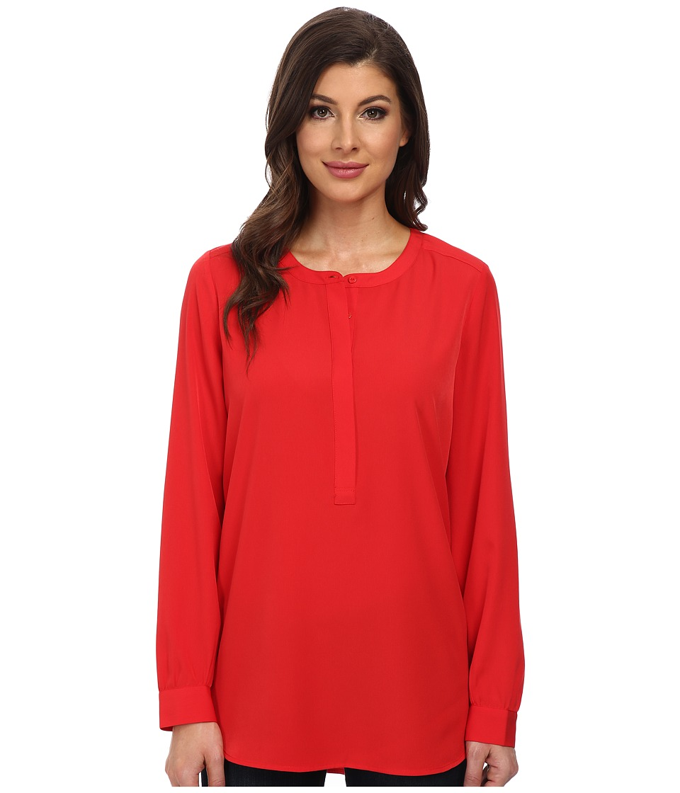NYDJ - Woven Tunic (Vivid Red) Women's Blouse