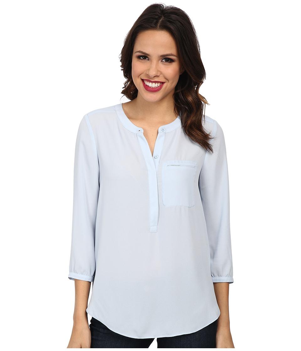 NYDJ - Solid 3/4 Sleeve Pleat Back (Mist) Women's Blouse