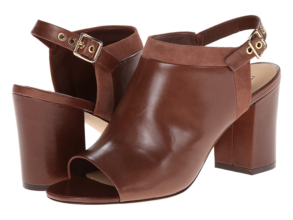 Cole Haan - Jena Open Toe Shootie (Harvest Brown/Suede) High Heels