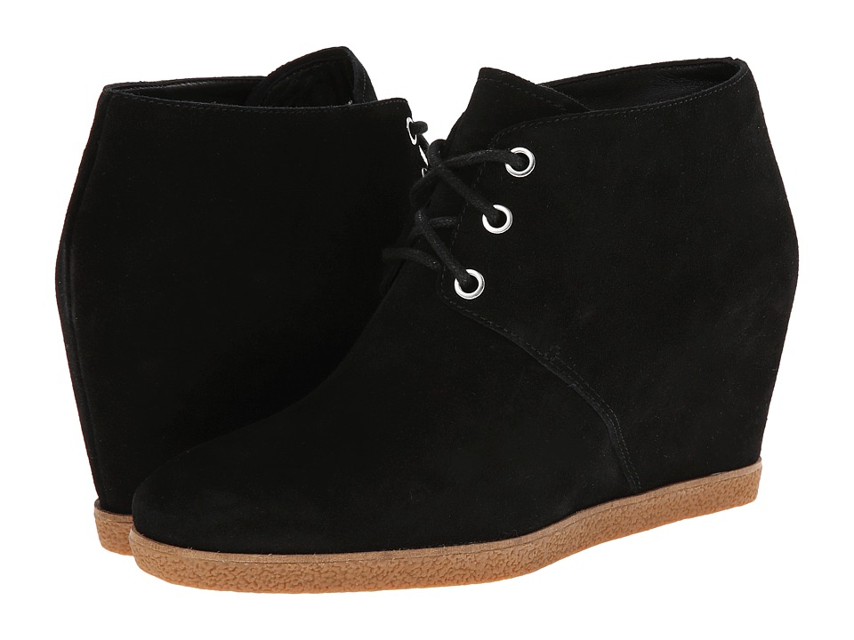 Cole Haan - Leslie Waterproof Bootie (Black Suede) Women's Lace-up Boots